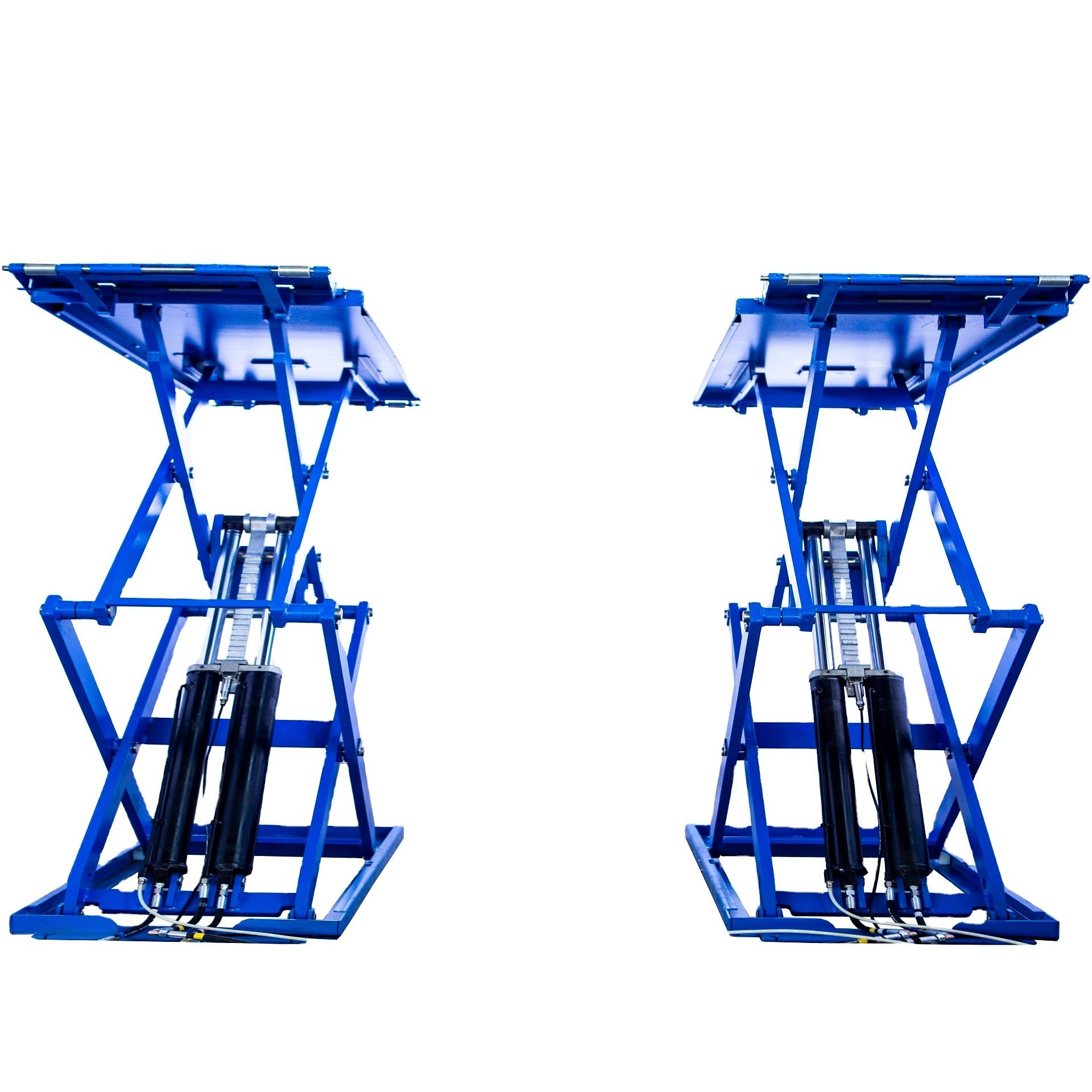 Ultra Super Thin Small Platform Scissor Car Lifts For Sale
