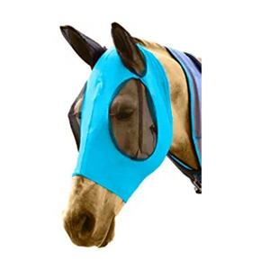 horse fly mask comfortable with ears mesh cover solid colors in three sizes