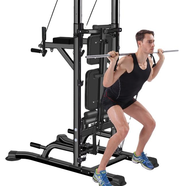 Meerdere Purpose Smith Machine Power Rack Power Tower Pull Up Bar <span class=keywords><strong>Functionele</strong></span> Trainer Kabel