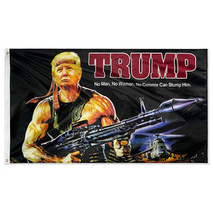 DFLIVE US Flags Trump with Gun Donald Trump 2020 3*5ft 150*90cm MAGA Banner for President