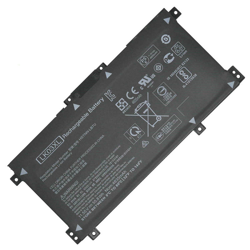 Genuine battery 11.55V 55.8Wh LK03XL laptop battery MSDS for HP Envy 17M HSTNN-UB7I TPN-W127 TPN-W128 Series original battery
