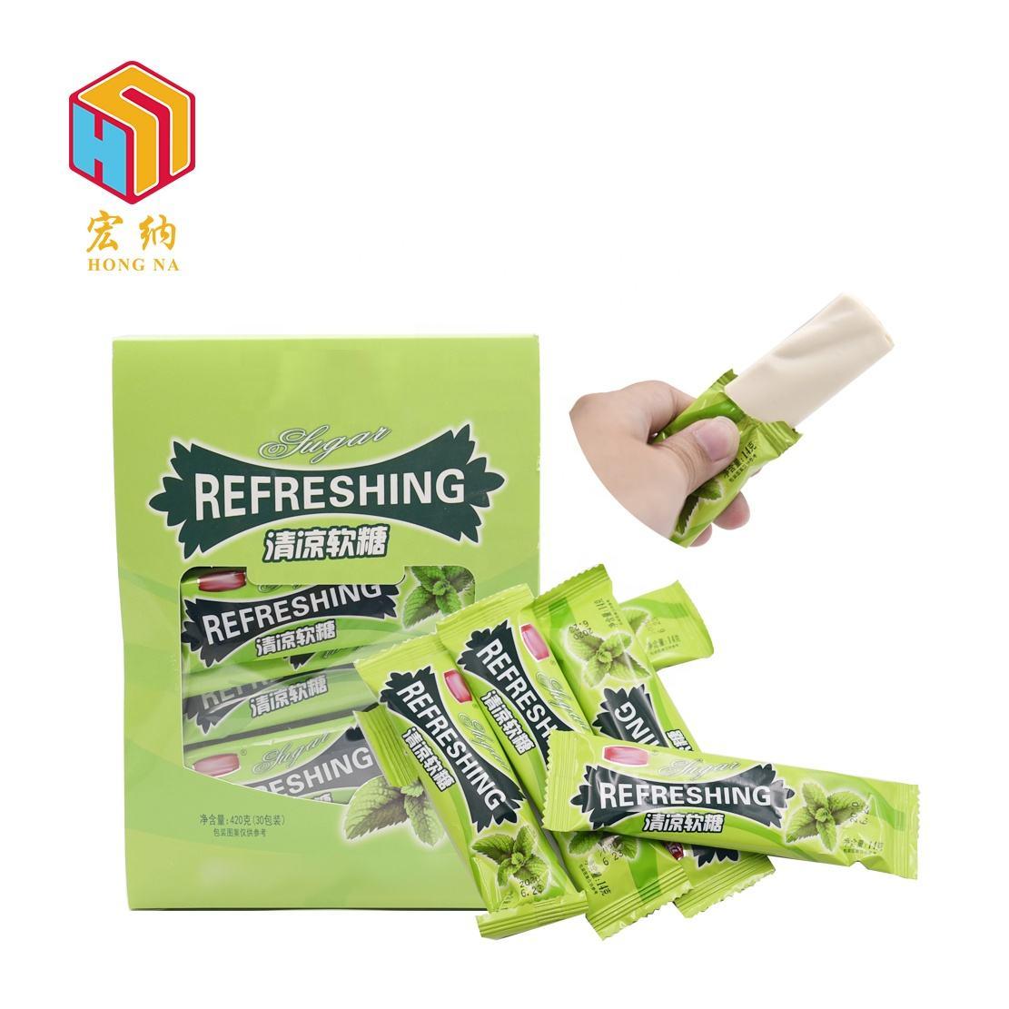 Menta fudge masticare snack gommoso della caramella morbida per i bambini