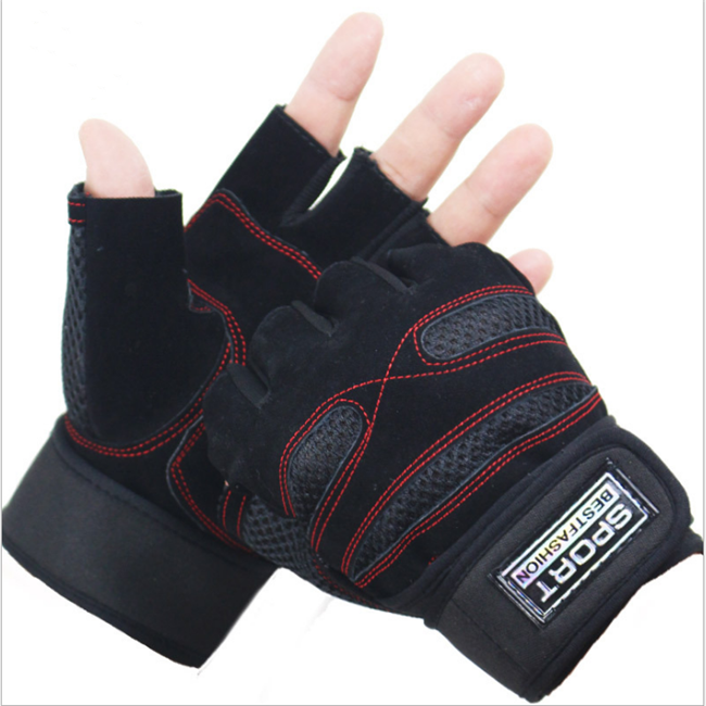 Top Quality Breathable Fitness Gloves Sports Hand Protection Half Finger Gloves