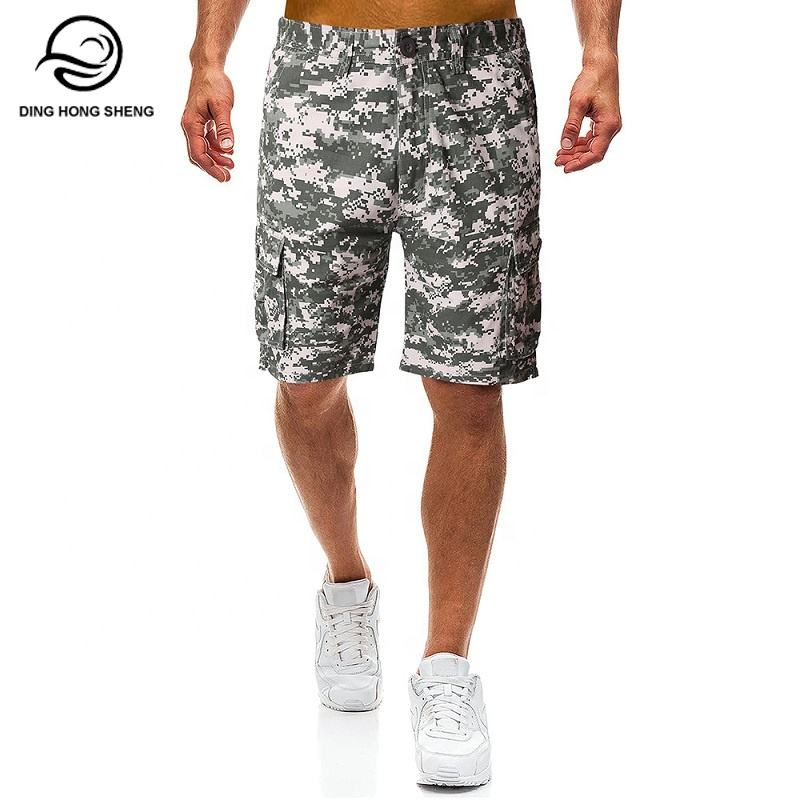 2019 summer new loose large size camouflage men's casual dry shorts