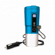 Temperature Control Travel Tumbler 12V Smart Electric Heated Coffee Mug with LCD Display 410ML Blue