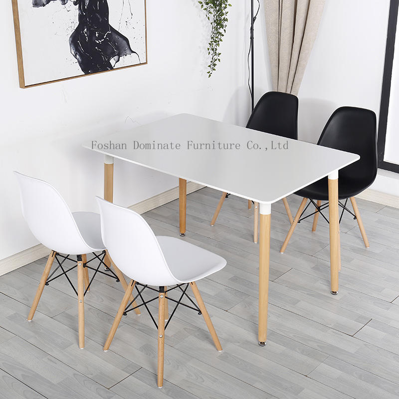 Nordic solid wood feet table ,square table and round table