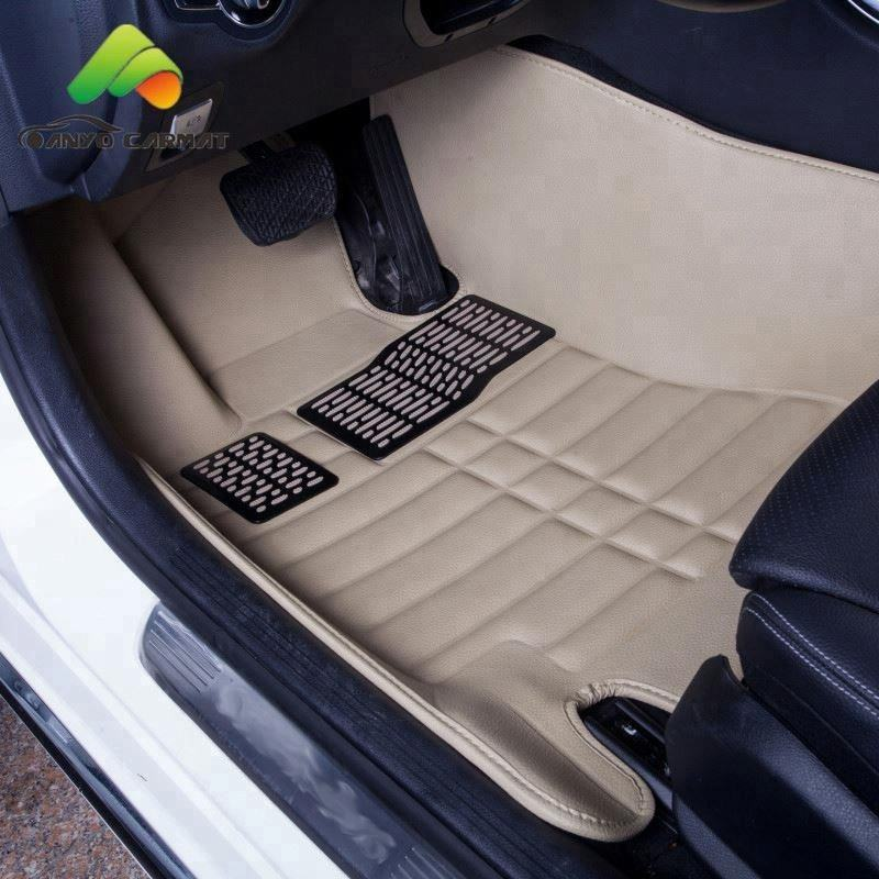 Single-layer anti-slip car floor liner hot press 3d car carpet 5d car floor mat for Hyundai Tuscon Verna Elantra Accent