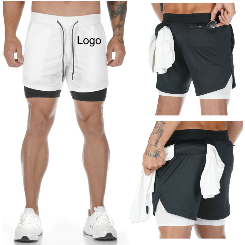 Wholesales Compression Workout Shorts Mesh Fitness Mens Gym Shorts With Pocket