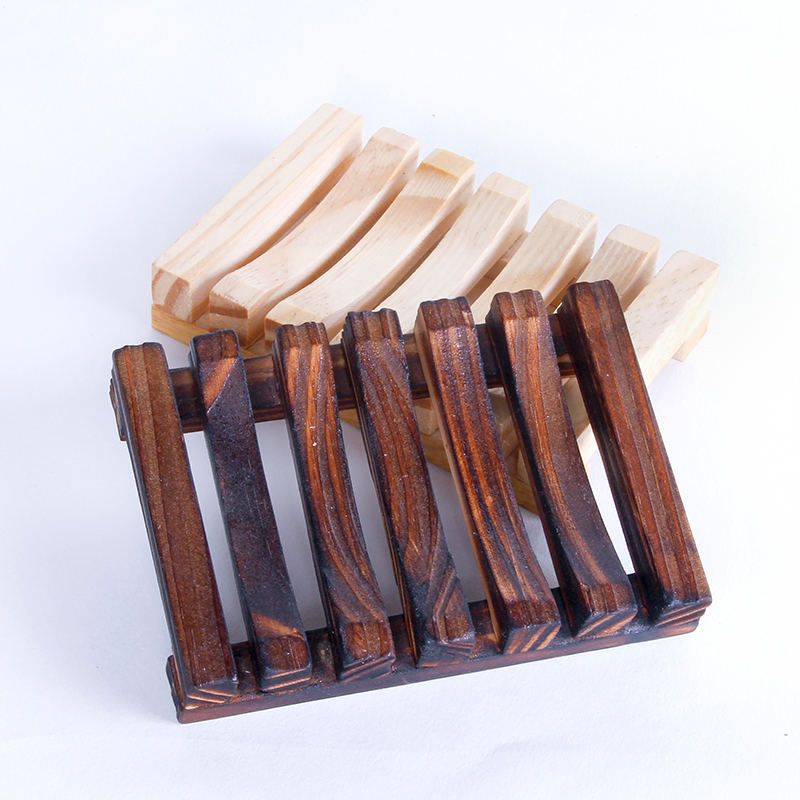 Bathroom Wooden Soap Box Natual Wood Soap Case Holder