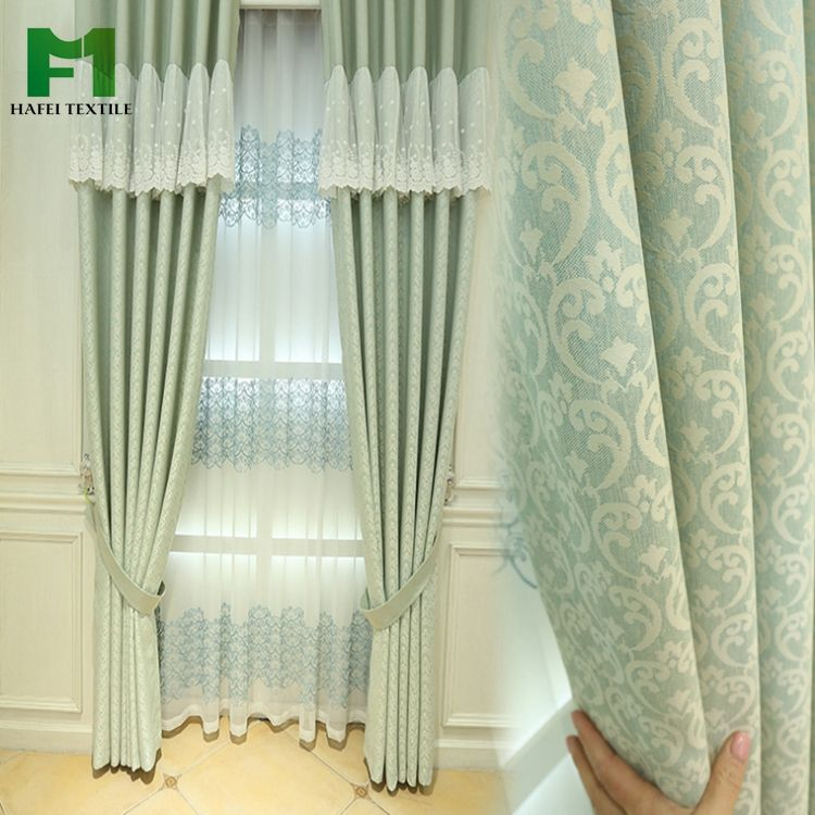 HAFEI ready made austrian velour printed curtains