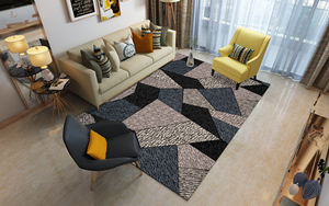 Polyester Printed Big Area Rugs And Carpets With Anti-skidding Backing For Living Room