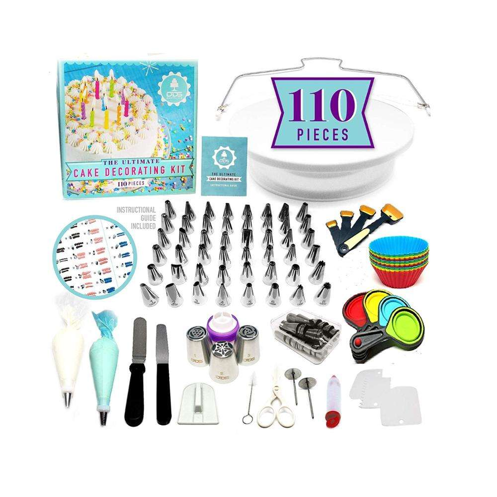 cake piping nozzle with cake turntable,icing spatula ect cake tools