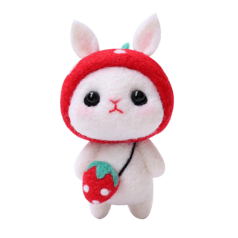 Kawaii lovely DIY Wool felt poke material package Wool felt ball tool poke needle set killing time toy