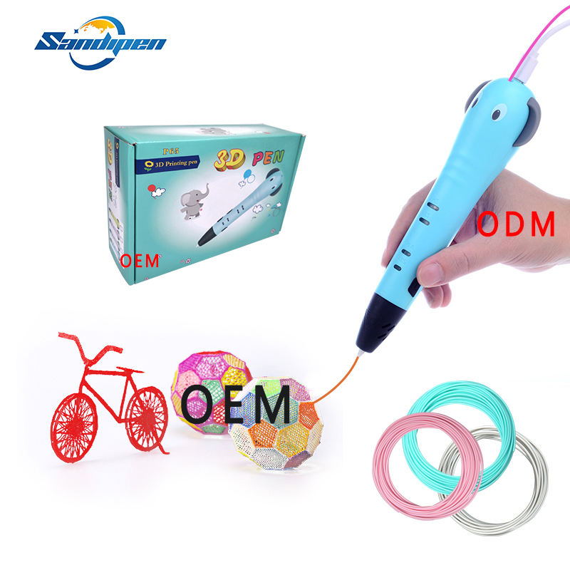Wholesale price 3d pen with media interface spiky pen promotion gift pen
