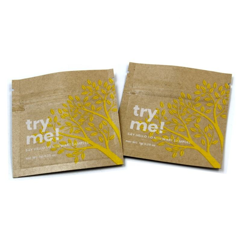 Eco Friendly Biodegradable Foil Kraft Paper Sunscreen Empty Sachet Cosmetic Samples Sachet