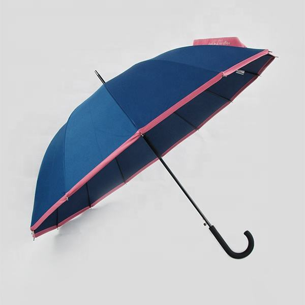 Hot sale strong 14 ribs colorful umbrella for promotional straight umbrella