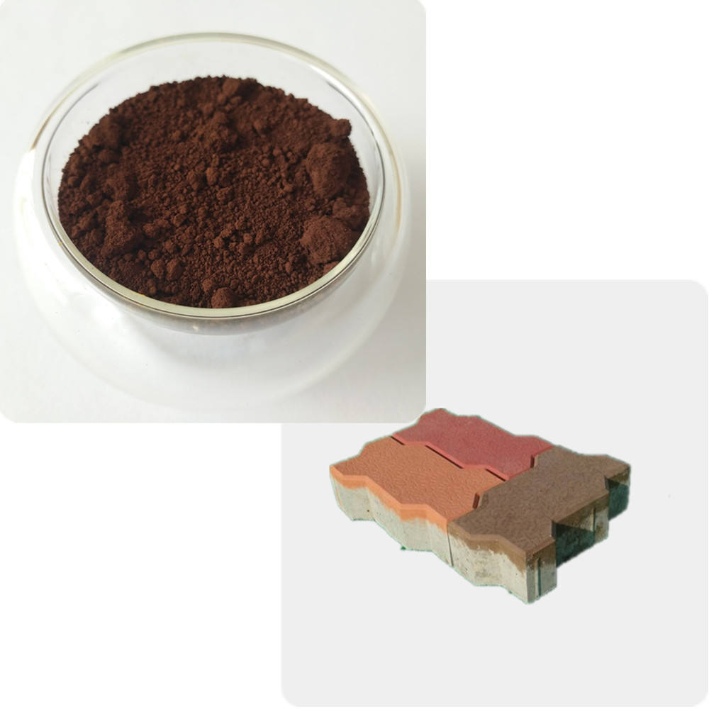 synthetic iron oxide brown 610 663 686 pigment use in paver block