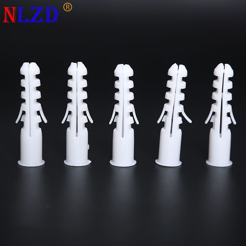 Manufacturer White Grey Expansion Drywall Wall Anchor Screw Spike Plastic Wall Plug