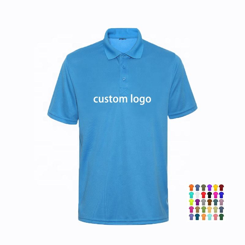 Quick dry anti-shrink polyester cotton men polo shirt with custom logo uniform