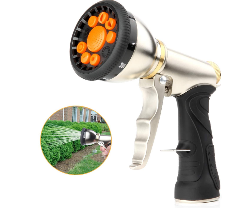 Garden Hose Nozzle Sprayer Heavy Duty Metal Spray Gun Metal Water Spray Nozzle