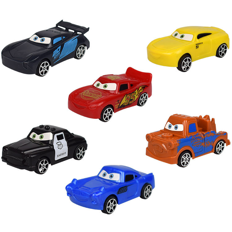 Mini car mobilization decorative toy multi-color car toy set small toys car model cake topper