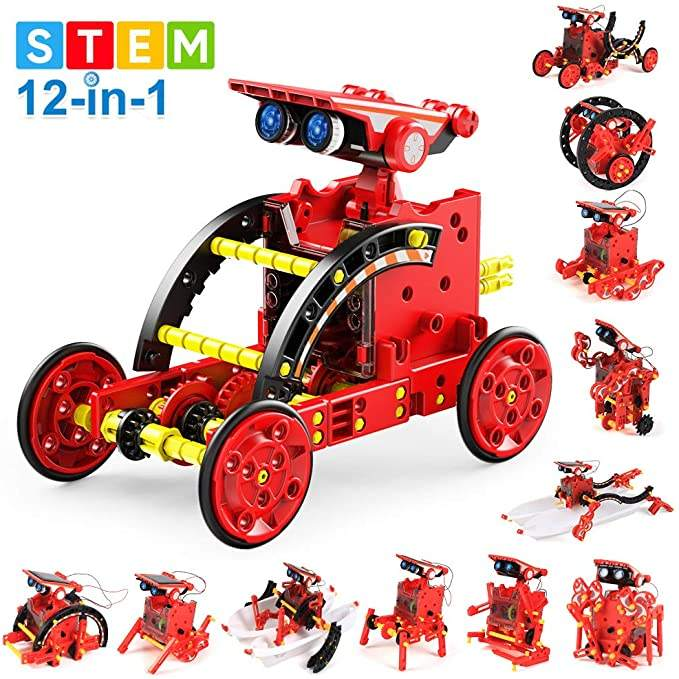Solar Robot Kit 12 in 1 Science STEM Robot Kit Building Toys for Kids Aged 8-12 and Order,DIY Science Experiments Robot