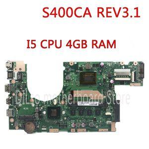 "S400CA Scheda Madre per Laptop ASUS S400CA REV 3.1 con i3-3217U 4GB Scheda Madre 14/"""