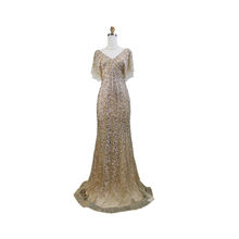 Ladies ball gown prom long luxury water drill evening dresses