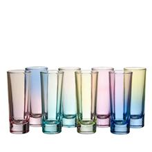 Factory Direct Wholesale Cheap Liquor Sprayed Multi Colors Mini Bar Shot Glasses