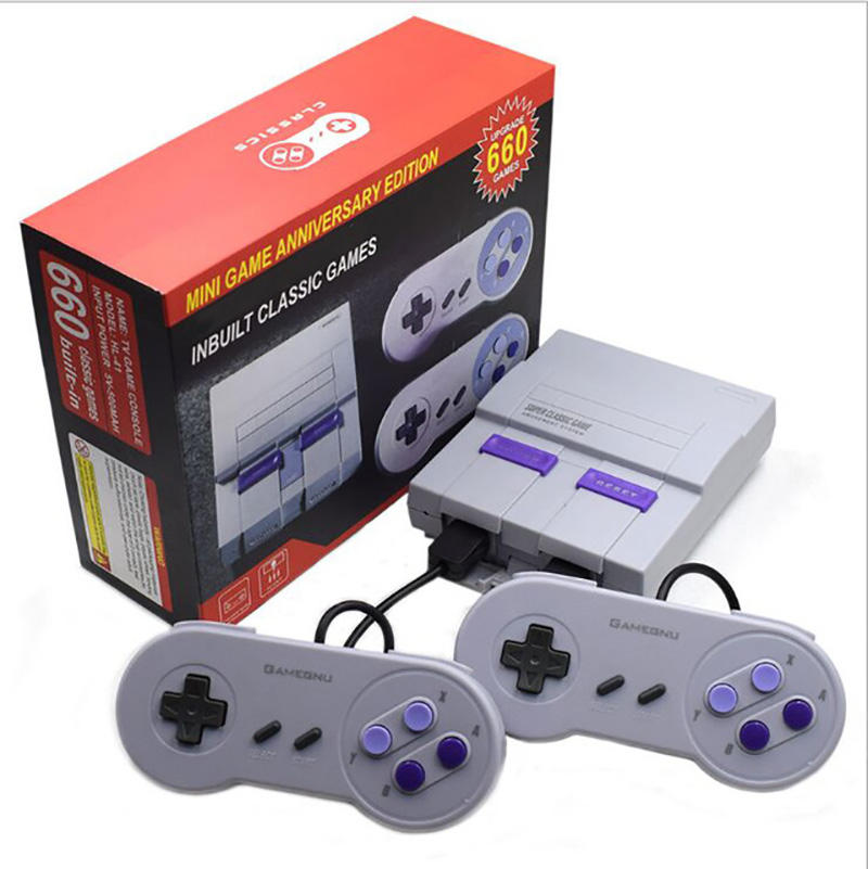 Groothandel Beste Kwaliteit 660 Video Game Console Handheld Retro Super Classic Game Mini Tv 8 Bit Familie Tv Video Game console