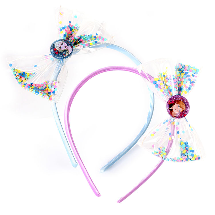 Wholesale Bow Headband Beach Theme Party Hairbands Sparkling Kids Festive Gifts Hairband Festive Hair Accessories