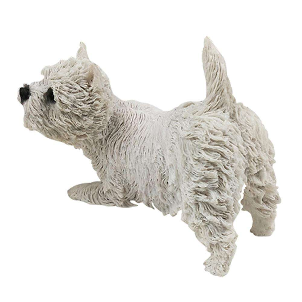 Jack Russell Terrier Dog Figurine 3 inch Statue Resin Standing White Brown