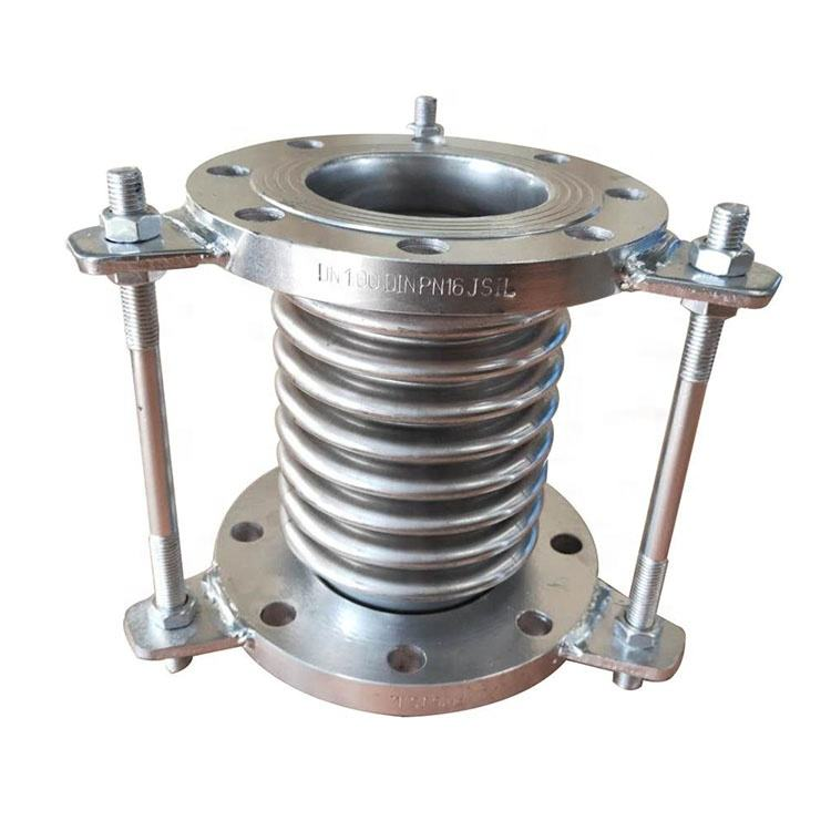 price corrugated type pipe metal expansion joint with flange axial bellow compensator stainless