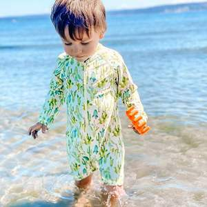 Kids boys girls OEM sublimation printing long sleeve swimwear