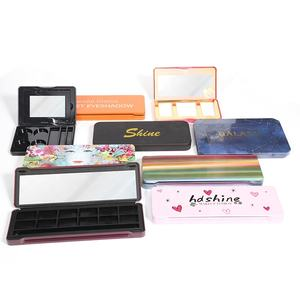Private Design Customize Packaging Make Up Tins Portable Mini Size Eye Shadow Color Cosmetic Tin Box Makeup Palette