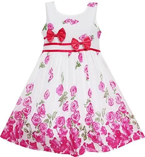2020 vestido coreano último diseño Plaid vestido de fiesta sin espalda floral niños niñas maxi vestido para niña de 2-10 año