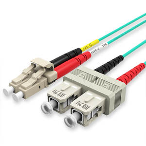 Duplex OM4 Multimode Fiber Patch Cord/PATCH CABLE SC UPC LC UPC SM DX Patch Cord 1 M