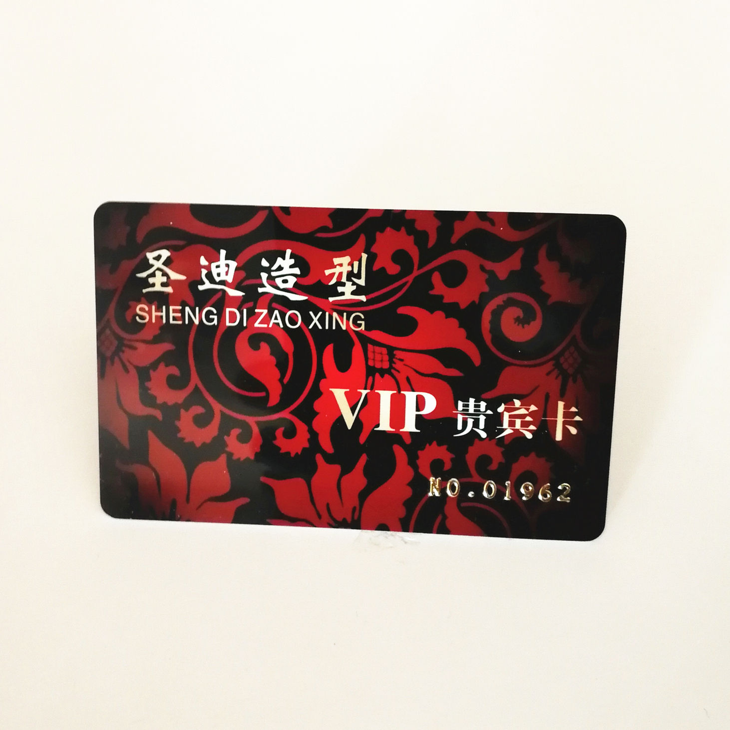 CR80 full color printing printable credit card size embossing number