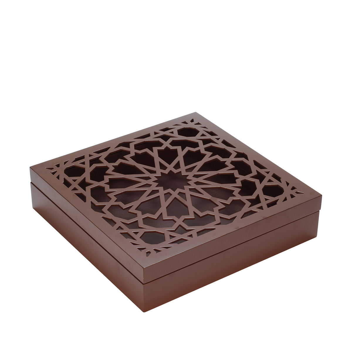 New design gift box wood brown/black/brown/white storage carved/engraving box luxury chocolate box