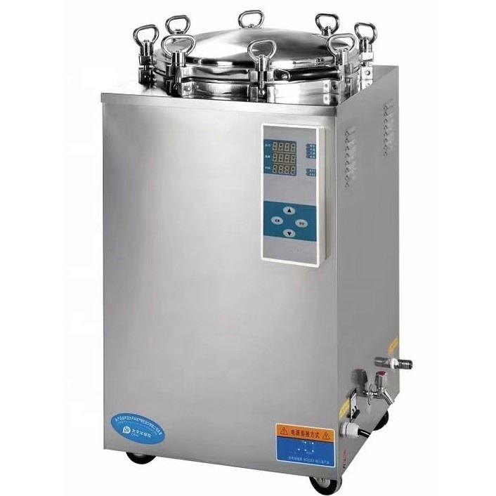 Düşük maliyetli 35L 50L 75L 100L 120L 150L hastane paslanmaz çelik dikey buhar otoklav sterilizatörü