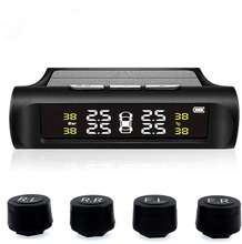 Car TPMS Tyre Pressure Monitoring System Solar Power Digital LCD Display Auto Security Alarm Systems Tyre Pressure Sensor