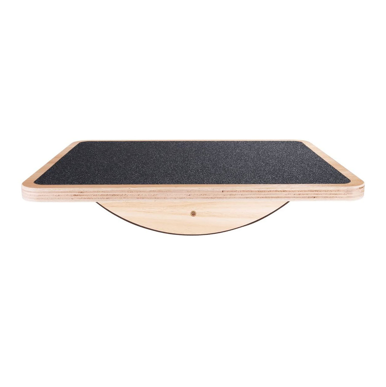 Professional fitness yoga fit anti slip rectangle wooden wobble balance board