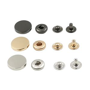 High Quality Garment Accessories Round 4 Part Custom Spring Metal Snap Button