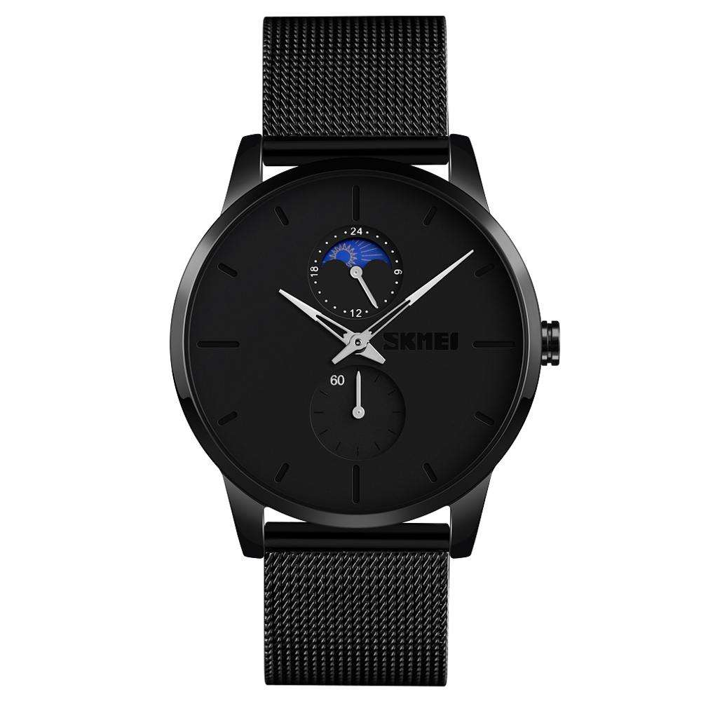 Fashion SKMEI 9208 watches men wrist luxury 3atm water resistant stainless steel quartz watch