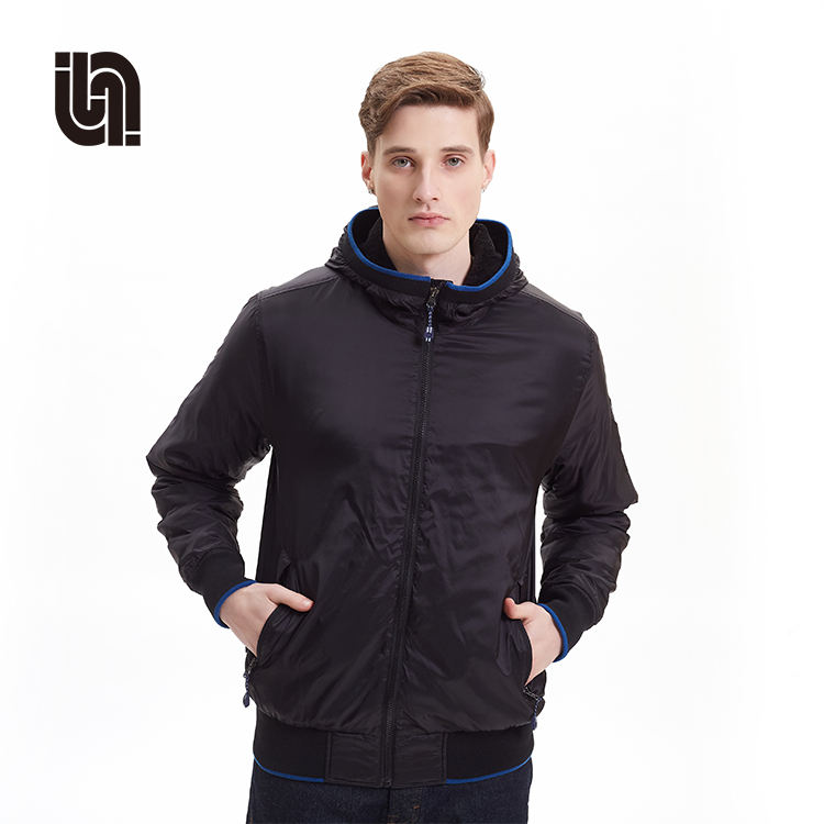 Waterproof Windproof Outdoor Casual Softshell Men Polyester Jacket With Hood