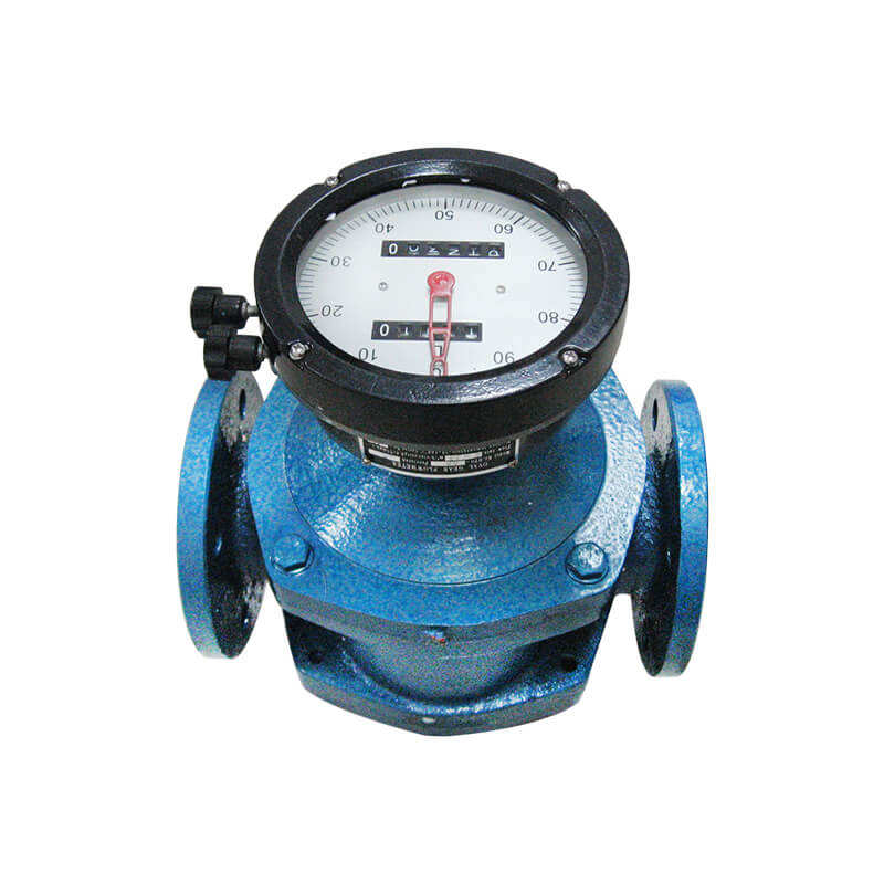 High temperature positive displacement bunker oil flow meter