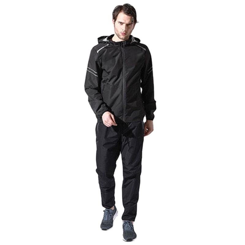 Heat Gym Fitness Sport weight loss wind breaker Sweat suit running Suana Suit for men Fitness Hot sport