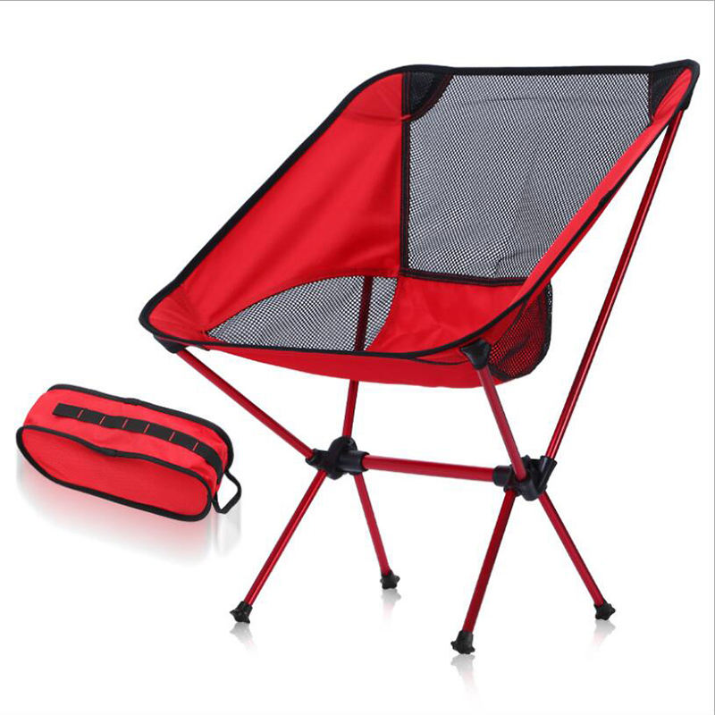 Outdoor Ultralight portable picnic camping aluminium frame foldable camping beach fishing chair