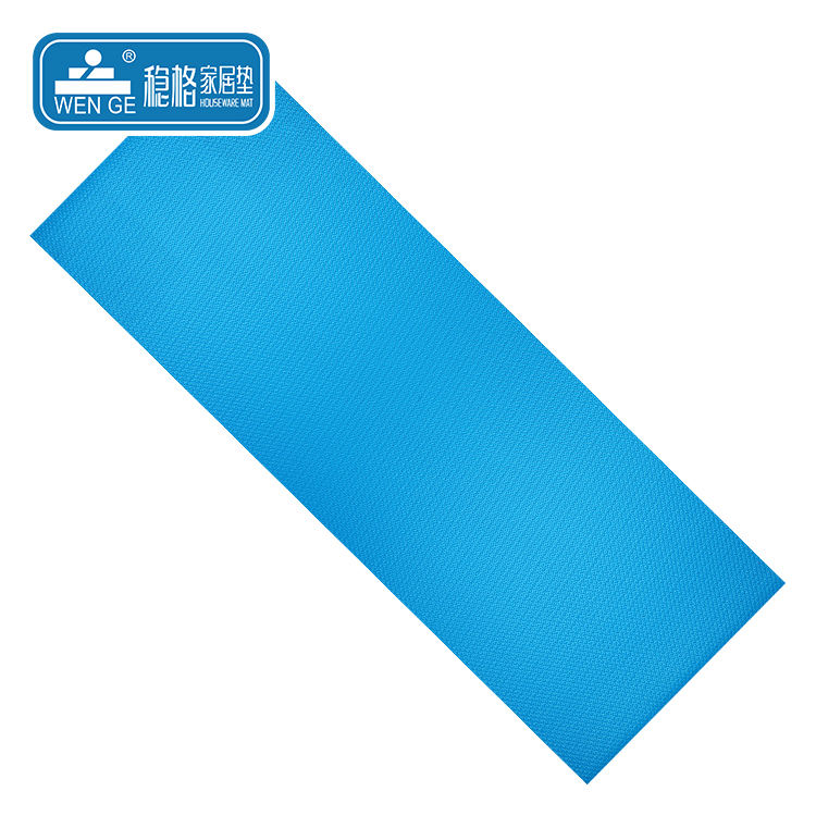 Plastic material 6MM comfortable and softly solid color pvc yoga mat