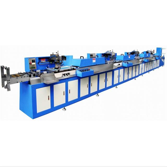 4 Colors Care label automatic screen printing machine manufacturer